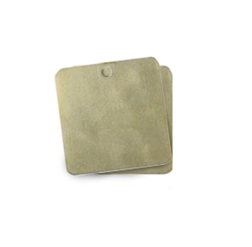 Blank brass valve tag