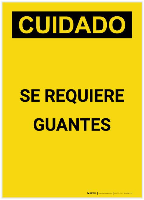 Caution: Gloves Required Spanish Portrait - Label