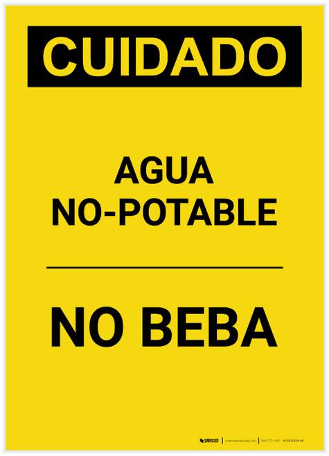 Caution: Non Potable Water Do Not Drink Spanish Portrait - Label