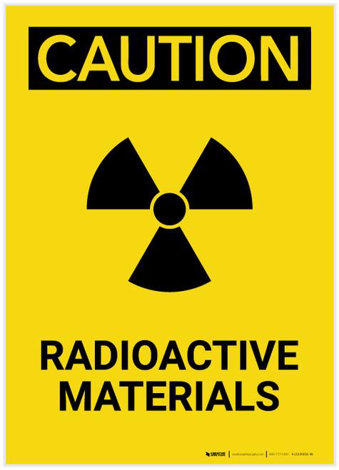 Caution: Radioactive Materials Portrait - Label