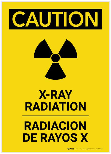 Caution: XRay Radiation Bilingual Portrait - Label