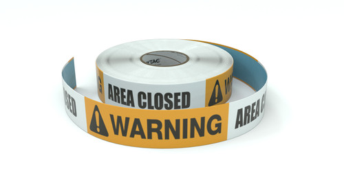 Warning: Area Closed - Inline Printed Floor Marking Tape