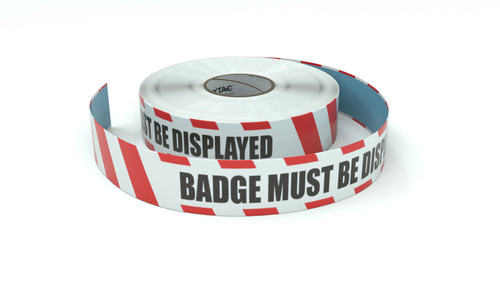 Restricted Area: Badge Must Be Displayed - Inline Printed Floor Marking Tape