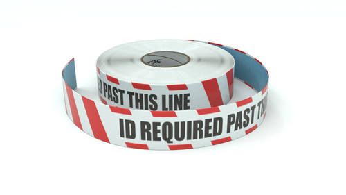 Restricted Area: ID Required Past This Line - Inline Printed Floor Marking Tape