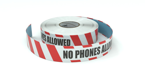 Restricted Area: No Phones Allowed - Inline Printed Floor Marking Tape
