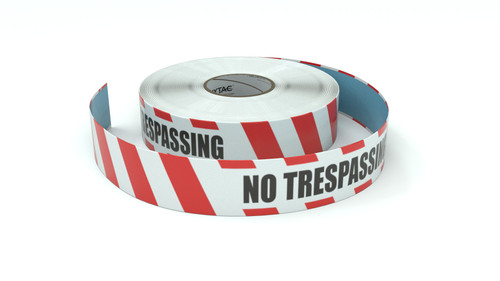 Restricted Area: No Trespassing - Inline Printed Floor Marking Tape
