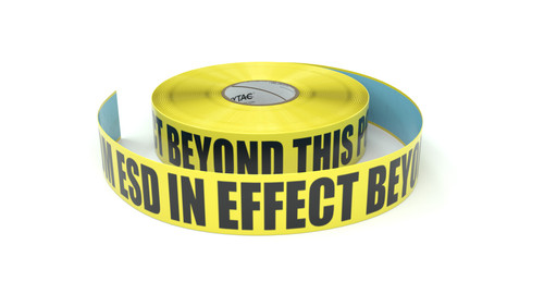 ESD: CDM ESD In Effect Beyond This Point - Inline Printed Floor Marking Tape