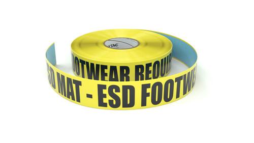 ESD: ESD Mat - ESD Footwear Required - Inline Printed Floor Marking Tape