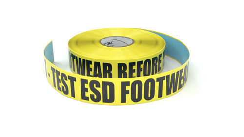 ESD: ESD Mat - Test ESD Footwear Before Crossing - Inline Printed Floor Marking Tape
