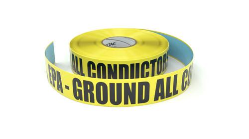 ESD: EPA - Ground All Conductors - Inline Printed Floor Marking Tape