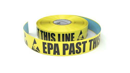 ESD: EPA Past This Line - Inline Printed Floor Marking Tape