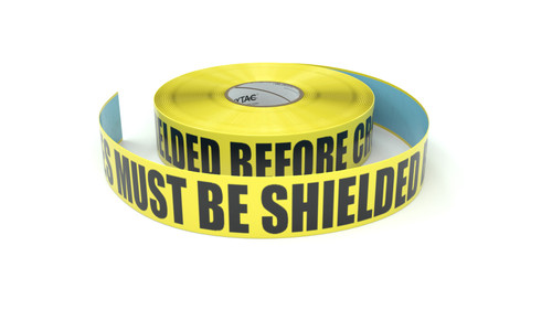 ESD: EPA - All Devices Must Be Shielded Before Crossing This Line - Inline Printed Floor Marking Tape