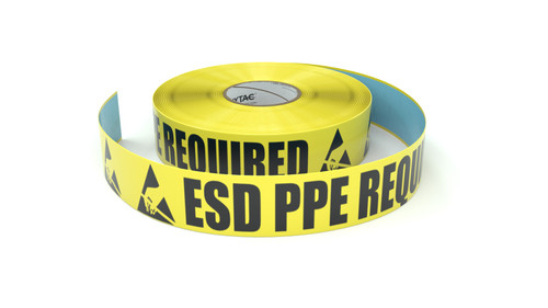 ESD: ESD PPE Required - Inline Printed Floor Marking Tape