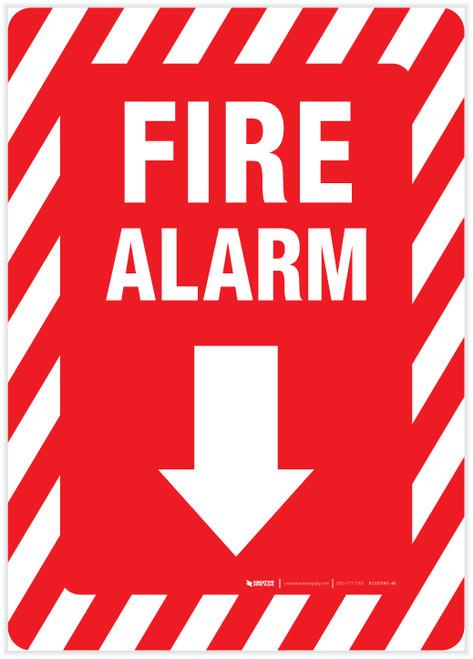 Fire Alarm Arrow Down - Label