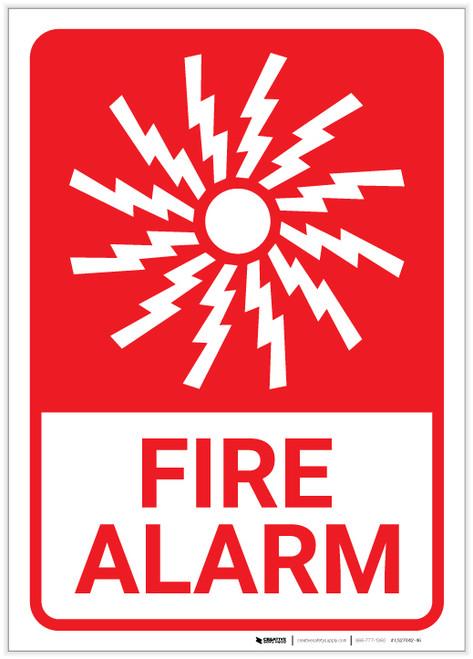Fire Alarm with Icon Portrait - Label