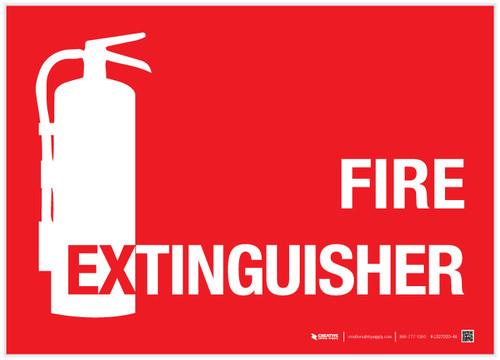 Fire Extinguisher - Label