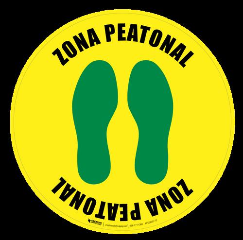 Zona Peatonal Floor Sign