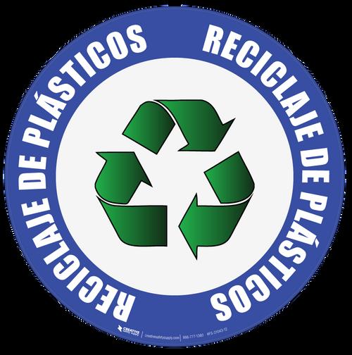 Recycle Plastic (Spanish) Floor Sign