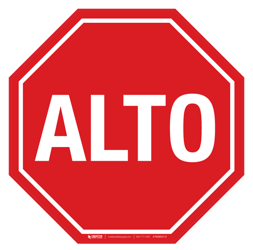 ALTO- Basic Floor Sign