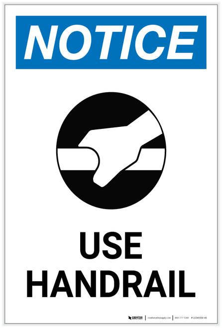 Notice: Universal Waste Storage Area Portrait - Label