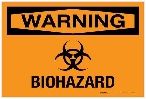 Warning: Biohazard - Label