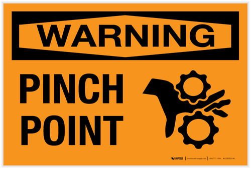 Warning: Pinch Point - Label