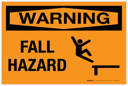Warning: Fall Hazard - Label