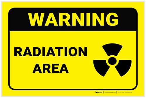 Warning: Radiation Area - Label