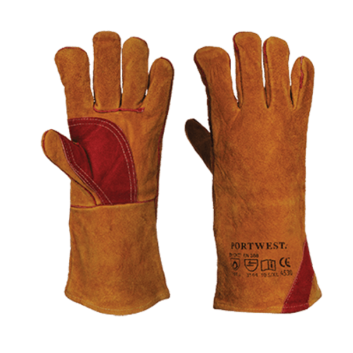 a9ec70952736 Premium quality leather welding gauntlet with reinforced palm and thumb  area for additional protection. Fully welted and sewn with para-aramid  throughout.