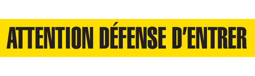 ATTENTION DEFENSE  - Barricade Tape (Case of 12 Rolls)
