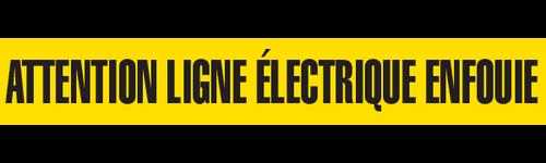 ATTENTION LIGNE ELECTRIQUE  - Barricade Tape (Case of 12 Rolls)