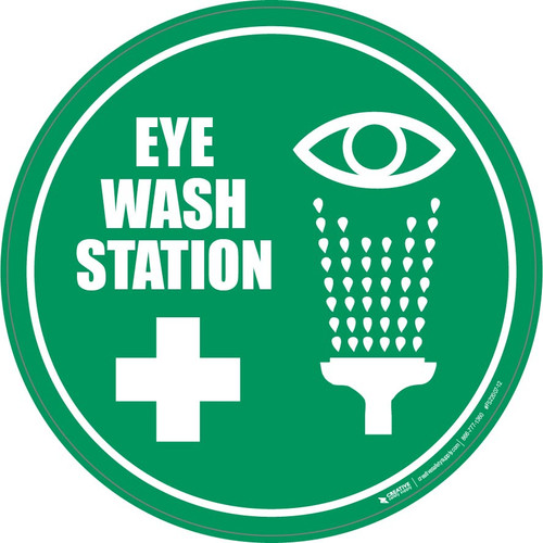 Eyewash Station Floor Sign