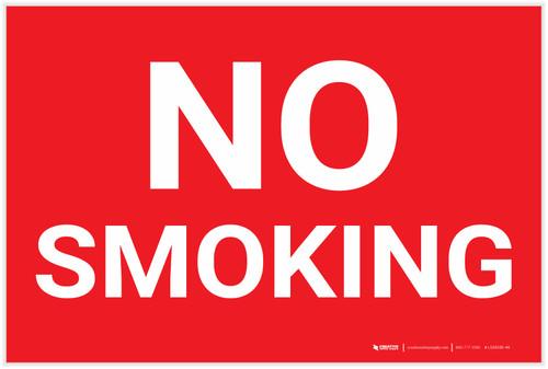 No Smoking Red Landscape - Label
