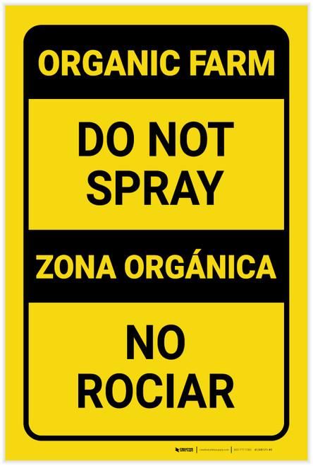 Caution: Do Not Spray Bilingual Spanish - Label