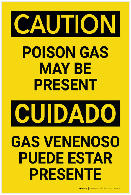 Caution: Poison Gas May be Present - Label