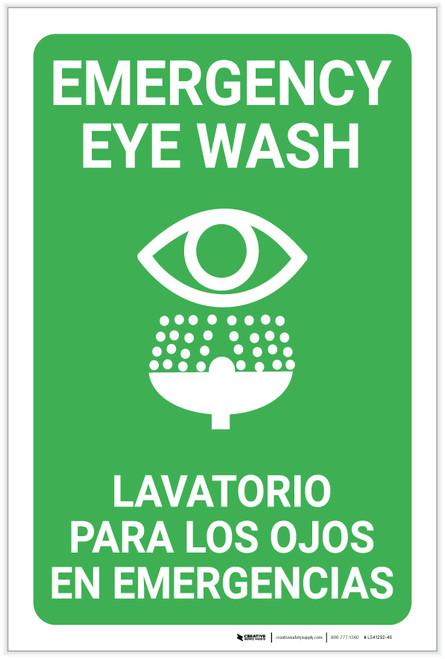 Eye Wash Bilingual Spanish - Label