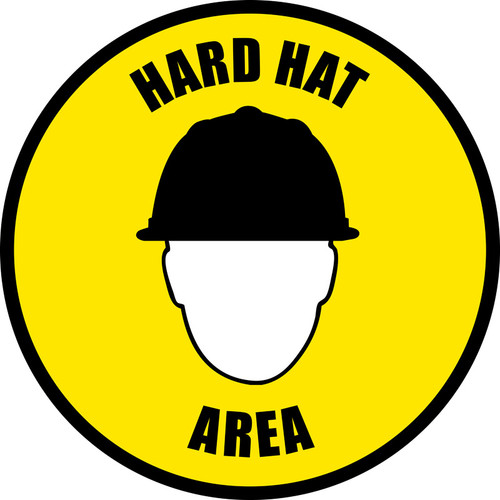 Hard Had Area Floor Sign