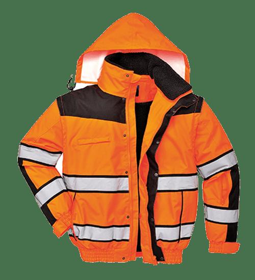Hi-Vis Classic Bomber Jacket, Orange