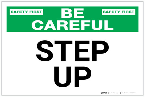 Be Careful: Step up - Label