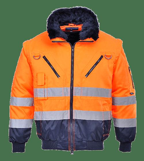 Hi-Vis Pilot Jacket, Orange