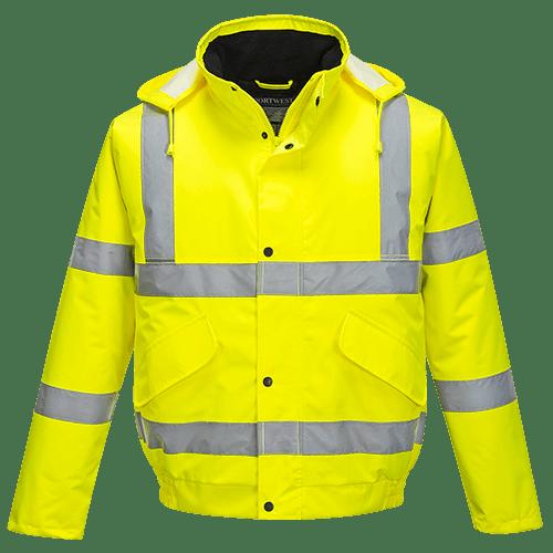 Hi-Vis Bomber Jacket, Yellow