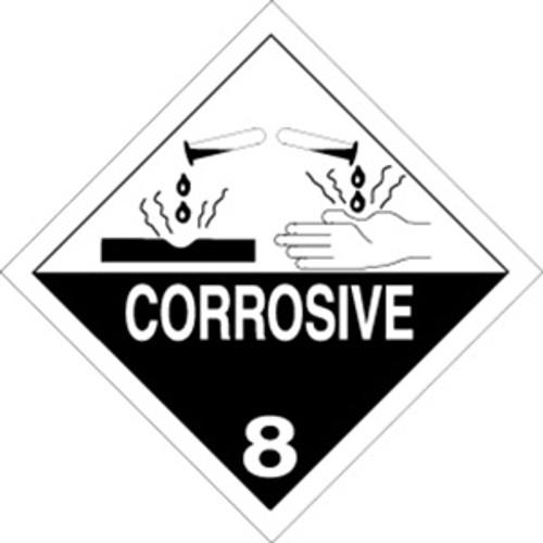 Corrosive  4 x 4 - Label Roll