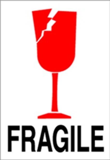 International Fragile  3 x 4 - Label Roll