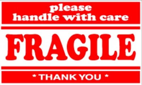 Fragile  3 x 5 - Label Roll