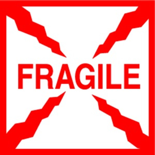 Fragile  4 x 4 - Label Roll