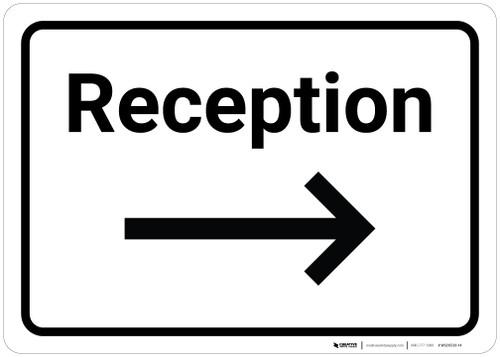 Reception Arrow Right - Wall Sign