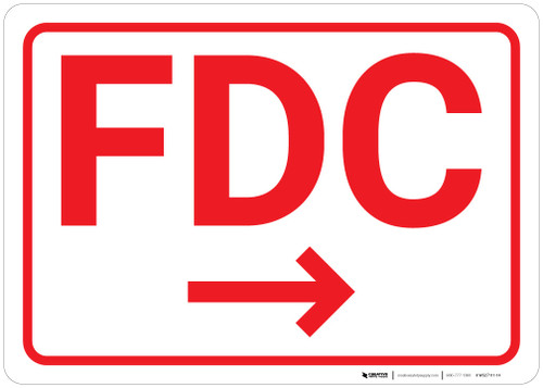 FDC Arrow Right White Background - Wall Sign
