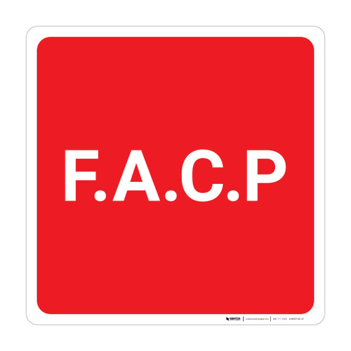 F.A.C.P (Fire Alarm Control Panel) - Wall Sign