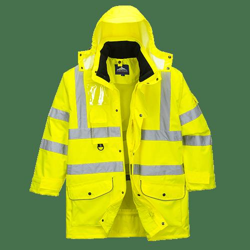 Hi-Vis 7in1 Jacket, Yellow