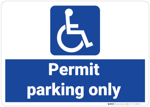 ADA/Handicap Permit Parking Only - Wall Sign